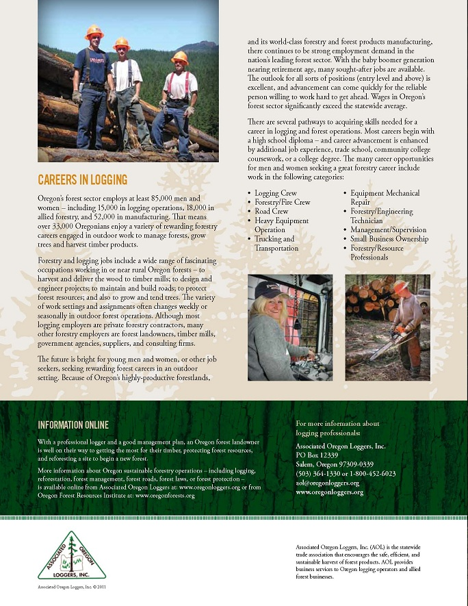 Oregon Professional Logger Careers